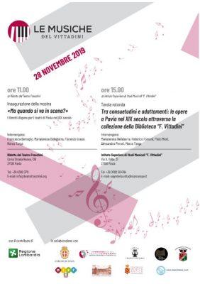 Le musiche del Vittadini - primo appuntamento giovedì 28 novembre